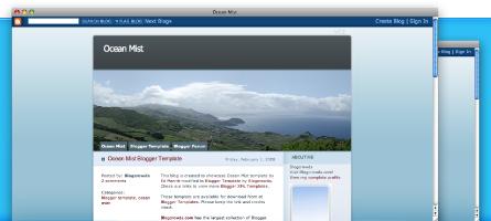 blogger templates: ocean mist